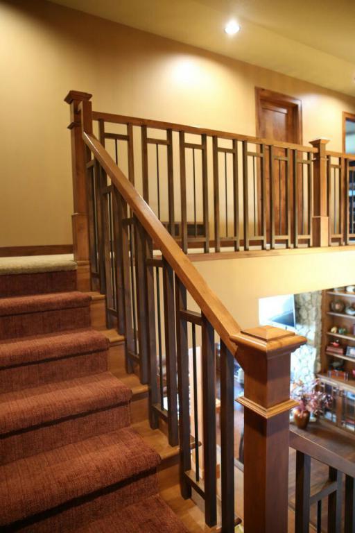 نرده راه پله چوبی