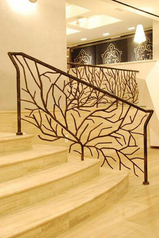 نرده راه پله طرح درخت